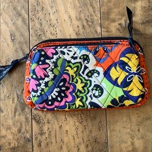 Vera Bradley small padded bag with two zip pockets
